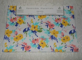 4 Deborah Connolly Floral Poppies Spring Placemats NWT FREE SHIPPING  - $32.99