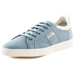Fred Perry Men's Sidespin Canvas Trainers Shoes B8244-C54 - Sub Blue - $71.27