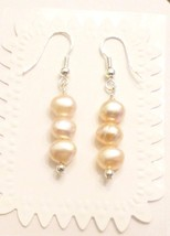 Pink Freshwater Baroque Pearl Dangle Earrings W... - $12.65