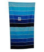 "Printed Cool Rugby Cotton Beach Towel Blue - Evergreen 32"" x 62"" - $4.99"