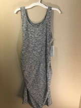 Liz Lange Maternity Heather Gray Tank Sleeveless Dress NWT Medium M - $17.40