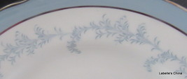 "Kenmore Scallop Rim 10.5"" Plate Soft Blue Silver Trim Made in England by... - $32.95"