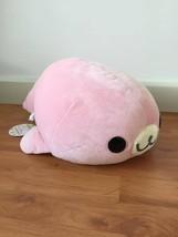 SAN-X Mamegoma Sakuragoma PINK CUTE  Plush Doll Pillow marshmallow BIG  - $39.60