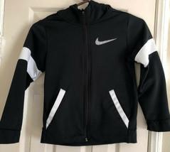 Nike Sportswear Black/White Full-Zip Hoodie Size S - $9.49