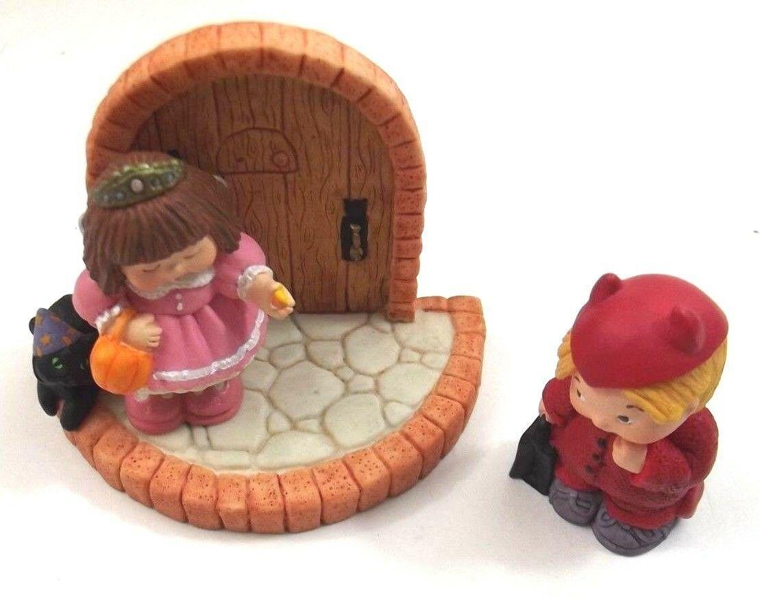 Hallmark Merry Miniatures Bashful Visitors 3 Piece Set Personalities 1997 - $6.99