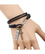 Jewelry Man Cross Bracelet Wristband Charm Braclet For Male Accessories ... - $12.90