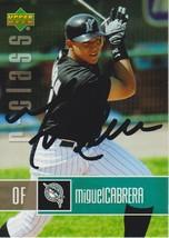 Miguel Cabrera Signed Autographed 2004 Upper Deck Baseball Card - Florid... - $19.99