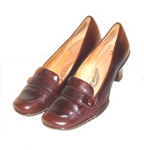 Sofft Women's Burgundy Leather Strap Pump Classic Shoe Size 12 M - $39.19