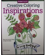 Creative Coloring A Second Cup Of Inspirations Adult Color Book Design O... - $10.83