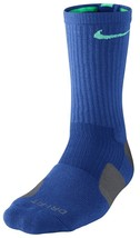 New Nike Dri-Fit CREW ELITE Basketball Socks Game Royal / Grey SX3693-43... - $14.00