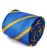 Frederick Thomas royal blue and yellow gold stripe tie FT824 - $17.13