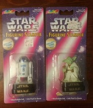 Rose Art Star Wars Figurine Stamper Lot of 2:  R2-D2 and Yoda - $9.74