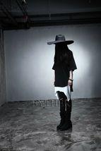 ByTheR Unisex Modern Chic Classic Style Floppy Wide Brim Wool Felt Fedora Hat image 12