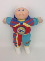 Cabbage Patch Kids Boy Doll Bald Blue Eyes Vintage 80s Toy Coleco Tracks... - $49.45