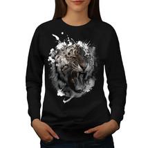 Wild Animal Tiger Beast Jumper Animal Face Women Sweatshirt - $18.99