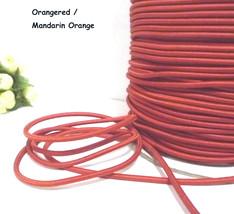 Approx 3mm - 5-10yd Orangered / Mandarin Orange Round Elastic Cord ET35 - $5.99+