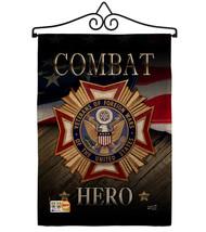 Veterans Hero Burlap - Impressions Decorative Metal Wall Hanger Garden F... - $33.97