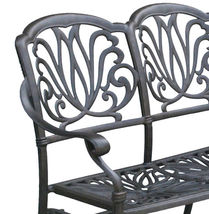 Outdoor Glider Elisabeth Patio  Cast Aluminum Bench Furniture Desert Bronze image 3