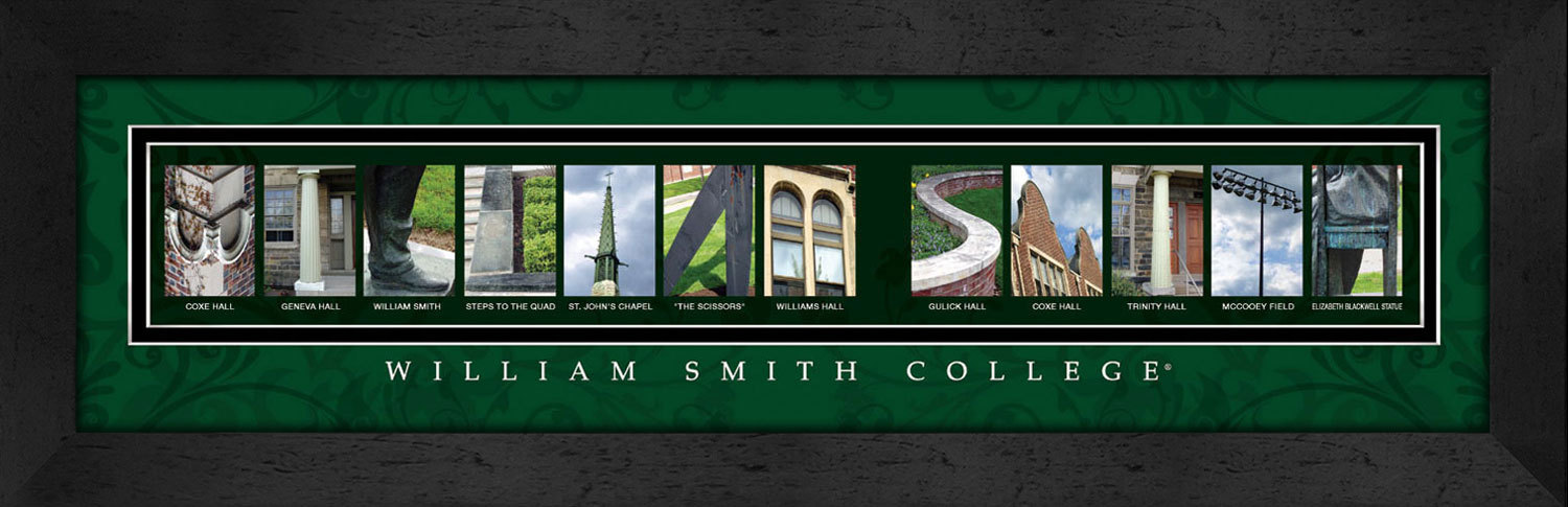 Primary image for William Smith College Officially Licensed Framed Campus Letter Art