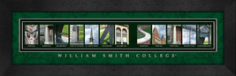 William Smith College Officially Licensed Framed Campus Letter Art - $39.95