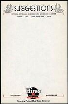 Vintage menu HIRES ROOT BEER Suggestions with RJ logo unused new old sto... - $8.99