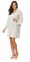 Soft & Cozy Plush Hooded Tunic, Gray Geo, Size M/L - $22.76