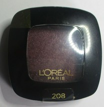 208 Violet Beaute L'oreal Colour Riche Mono Eyeshadow Single Purple Plum Shimmer - $7.69