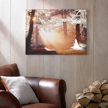 31 In. X 24 In. 'Metallic Forest' By Graham And Brown Printed Canvas Wal... - $73.99