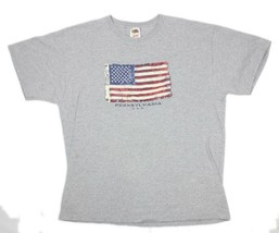 Hanes Mens Old Glory US Flag Pennsylvania USA Gray S/Sleeve Graphic T-Sh... - $12.86