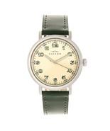 Elevon Felix Leather-Band Watch - Silver/Green - $250.00