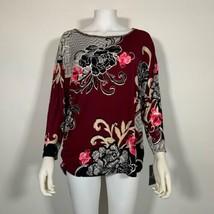 JM Collection Top Blouse Multicolor Floral Women Sz 0X NEW NWT - $19.99