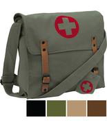 NATO Medic Canvas Military Bag Red Cross Vintage Shoulder Crossbody Mess... - $13.99+