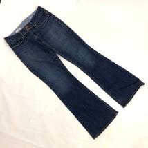 Gap Perfect Boot Sz 2 / 26 Fits 28 Petite JEans Long Dark Wash Denim Flare - $14.84
