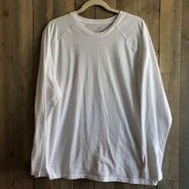 Athletic Works Performance Blend Shirt Mens XL White Long Sleeve Lightwe... - $14.99
