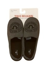 NWT True Religion Gray Faux Wool Men's Shoes Sandals Slippers Small 7-8 - $34.99