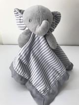 Circo Gray White Stripe Elephant Baby Security Blanket Lovey Satin Back ... - $353,41 MXN