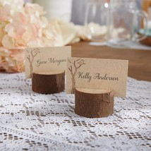 Rustic Real-Wood Place Card/Photo Holder (Set of 4)  - $10.99