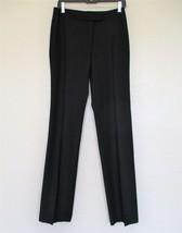 Costume National Pants Size 42 Women black wool flat front straight leg - $34.64