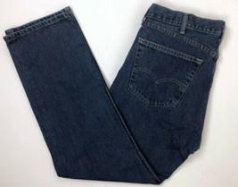 Levi's Strauss Men's 38x32 505 Regular Fit Jeans Dark Wash B25-06 - $19.28