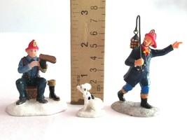 Lemax Christmas Village Figure Figurine Fire man Fighter Boots Lantern D... - $12.99