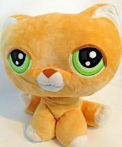 "Littlest Pet Shop Orange Tabby Cat Jumbo Large 15"" Plush Stuffed Toy Hasbro  - $39.95"