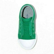 Cat & Jack Green Canvas Dwayne Slip-On Sneakers Shoes NWT image 2