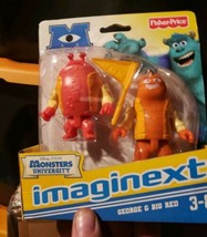 NEW Fisher Price Imaginext Disney PIXAR Monsters University U George & B... - $12.99