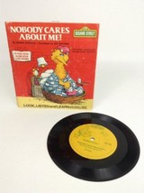 Vintage 1983 Fisher-Price Sesame Street Nobody Cares About Me! Book & 33... - $9.85