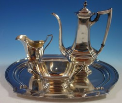 Washington by Wallace Sterling Silver Demitasse Set 3pc with Tray (#1721) - $2,295.00
