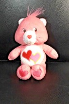 2002 Care Bear Love a Lot Super Soft Plush Bear Hearts - $12.86