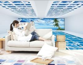 3D Himmel über ferienhäuser 2 Fototapeten Wandbild Fototapete BildTapete Familie - $51.18+