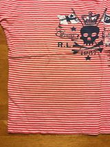 NWT Ralph Lauren Girl's Red Striped Blue Trim Pirate Shirt Size Large 12/14 image 9
