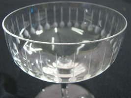 """7 Mid-Century Modern Etched Coupe/Sorbet Glasses """"Mad Men"""" Style - $109.00"""