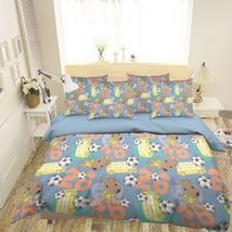 3D Football Dog 26 Bed Pillowcases Quilt Duvet Single Queen King US Lemon - $102.84+